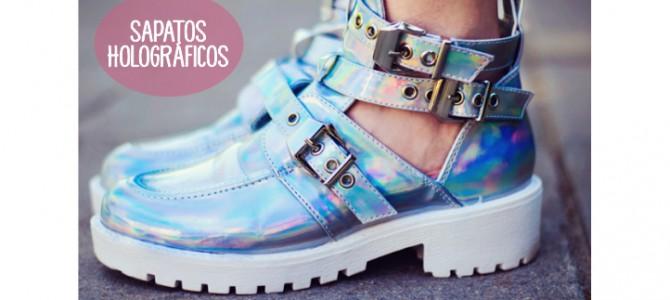 Holográfico nos sapatos
