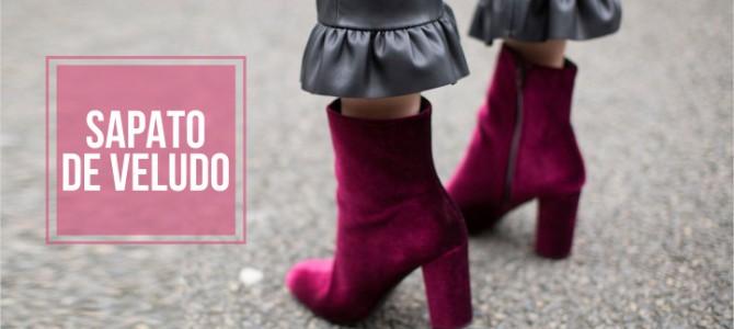 Sapato em Veludo