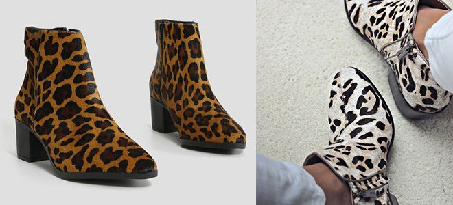 Bota estampada animal print